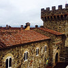 Castello di Amorosa, View from the South Tower (Alison Cochrane)